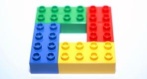 Kolorowy lego bloków kwadrat obrazy stock