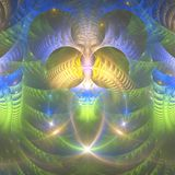 Kolorowy lekki fractal abstrakta tło fotografia stock