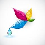 Kolorowy liść ilustracji