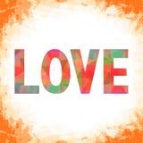 Kolorowy list miłosny card9 ilustracja wektor