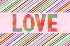 Kolorowy list miłosny card6 royalty ilustracja