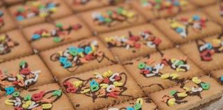 Kolorowy listu tort - zakończenie Zdjęcie Royalty Free