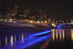 Kolorowy Ljubljana centrum miasta podczas Grudni wakacji Zdjęcia Royalty Free