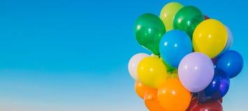 Kolorowy Lotniczych balonów sztandar Zdjęcie Royalty Free