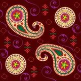 kolorowy lotosowy Paisley Zdjęcie Stock