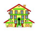 Kolorowy mały dom sprzedaż wektor Abstrakci powitanie Zdjęcia Royalty Free