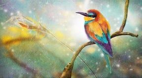 Kolorowy mały ptak ilustracja wektor
