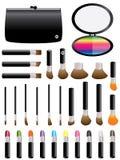Kolorowy Makeup Set Zdjęcie Royalty Free