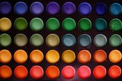 Kolorowy makeup ustawiający oko cieni tło obrazy royalty free