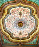 Kolorowy MalujÄ…cy Drewniany sufit w Barda muzeum narodowym, Tunis, Tunezja obrazy stock