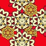 Kolorowy mandala bezszwowa tapeta endless ilustracji
