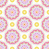 Kolorowy mandala wzór Obrazy Royalty Free