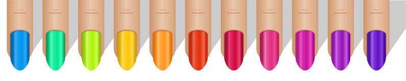 Kolorowy manicure Obrazy Royalty Free