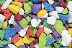 Kolorowy marmuru kamień, selekcyjna ostrość Obraz Stock
