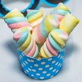 Kolorowy marshmallows cukierek fotografia stock