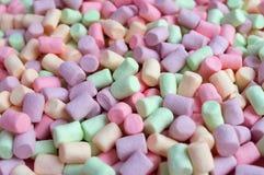 Kolorowy Marshmallows tło Fotografia Royalty Free