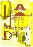 Kolorowy matka dnia kartka z pozdrowieniami Zdjęcia Royalty Free