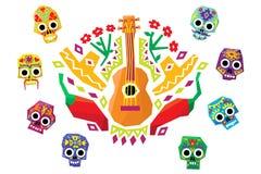 Kolorowy meksykanina wz?r, tradycyjna etniczna elementu wektoru ilustracja ilustracji