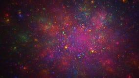Kolorowy mgławicy przestrzeni abstrakta tło Zdjęcia Royalty Free