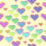 Kolorowy miłości serce w bezszwowym tle Fotografia Stock