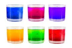 Kolorowy miękki napój. Fotografia Royalty Free