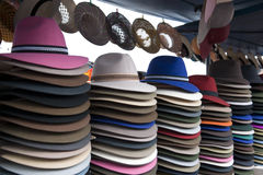 kolorowy miejscowy targowy otavalo Fotografia Stock
