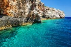 Kolorowy morze w Zakynthos Obrazy Stock