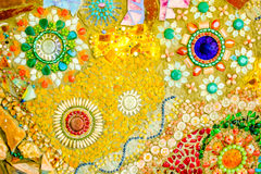 Kolorowy mozaika wzoru tło Robić od ceramicznego Obrazy Stock
