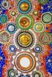 Kolorowy mozaika wzoru tło Robić od ceramicznego Zdjęcia Royalty Free