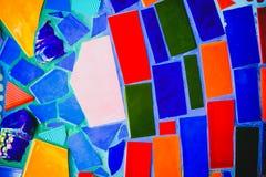 Kolorowy mozaika wzoru tło Robić od ceramicznego Zdjęcie Stock