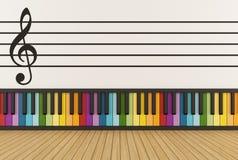 Kolorowy muzyczny pokój royalty ilustracja