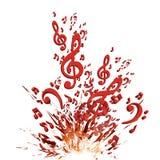 Kolorowy muzyczny wybuchu tło Obrazy Stock