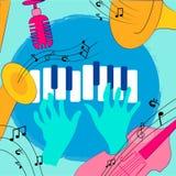 Kolorowy muzycznych instrumentów projekt ilustracja wektor