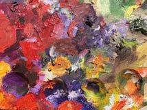 Kolorowy nafciany kolor obrazy royalty free