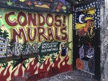 Kolorowy narożnikowy malowidło ścienne San Francisco zdjęcie royalty free