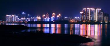 Kolorowy neonowy przy nocą Obraz Royalty Free