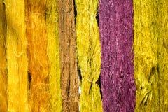 Kolorowy niciany jedwabiu barwidło od naturalnego Fotografia Royalty Free