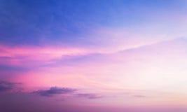Kolorowy niebo po zmierzchu Fotografia Royalty Free