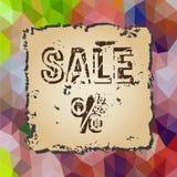 Kolorowy niski poligonalny trójboka wzór z starą kawałek papieru sprzedażą eps10 Zdjęcia Stock