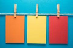 Kolorowy notatka papier Fotografia Stock