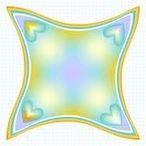 Kolorowy nowożytny tło z kropkami i sercami Obraz Royalty Free