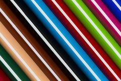 Kolorowy ołówek paskuje tło Obrazy Royalty Free