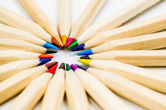 Kolorowy ołówka bielu tło Obraz Royalty Free