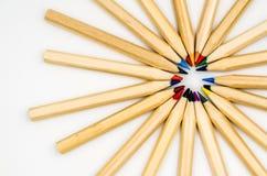 Kolorowy ołówka bielu tło Obrazy Stock