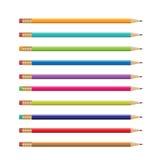 Kolorowy ołówka projekt, ołówkowy wektor ilustracji