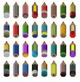 Kolorowy ołówkowy tło, tapeta, wektor Fotografia Stock