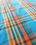 Kolorowy obdzierający wzór z tkaniny tekstury tłem Zdjęcie Stock