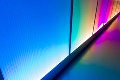 Kolorowy odbicia oświetlenia ściany abstrakta tło Obraz Stock