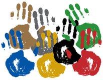 kolorowy odcisk dłoni Obraz Royalty Free