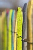 Kolorowy ogródu ogrodzenie Fotografia Royalty Free
